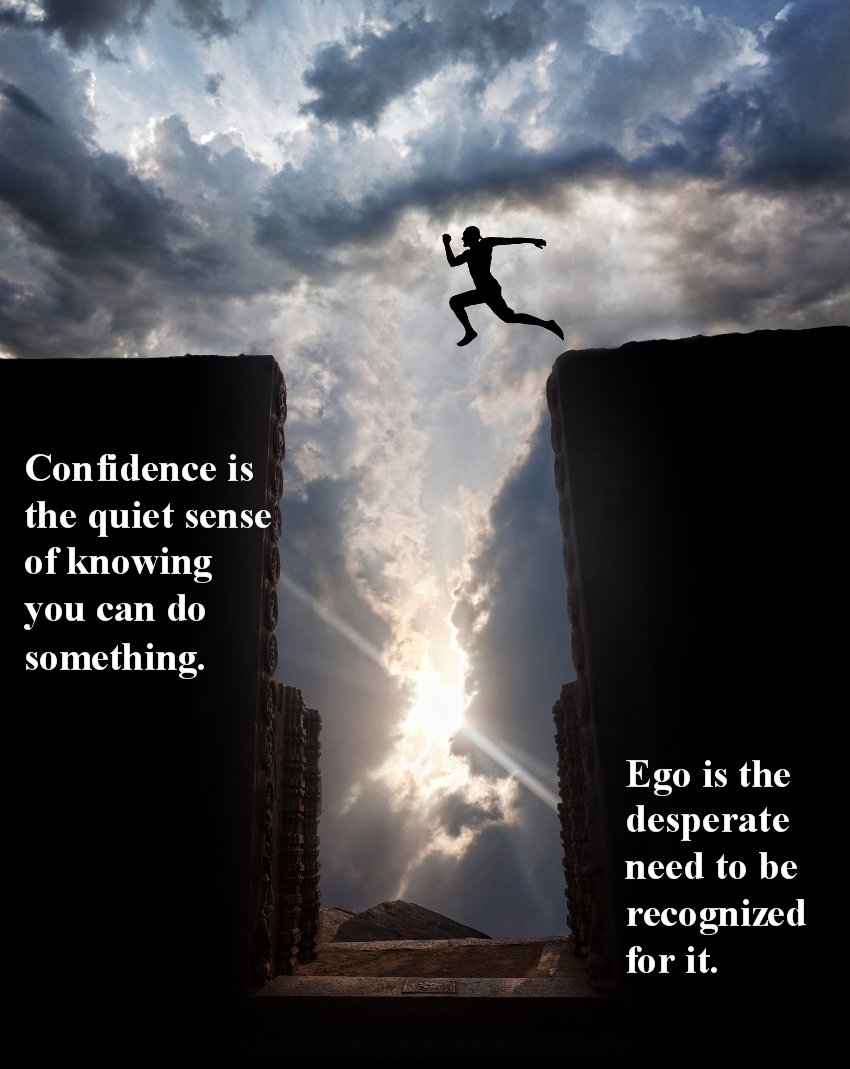 Jumping over challenges with confidence