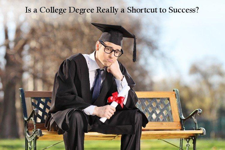 Sad college graduate