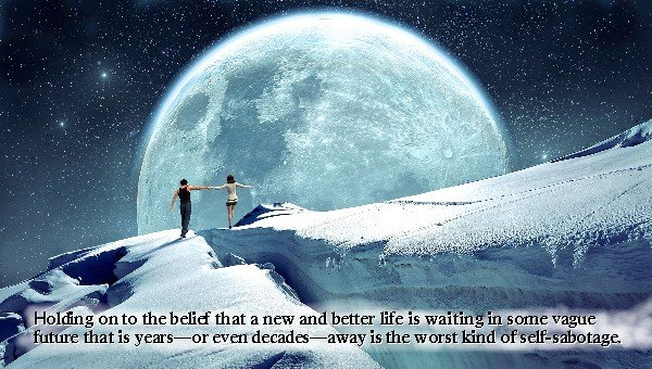 full moon in a starry sky