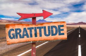 arrow pointing this way to gratitude