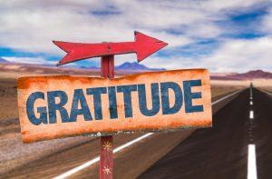 arrow pointing this way to gratitude